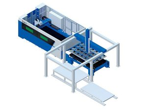 FMC automatic feeding + laser cutting machine